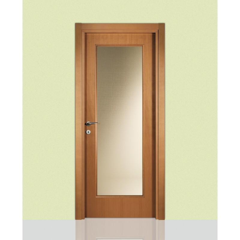 Porte interne in legno leon 660 con vetro civico14 for Porte interne vetro
