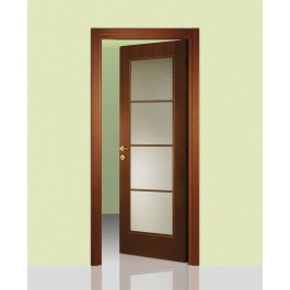 Porte interne in legno Leon 664 vetro e traversi