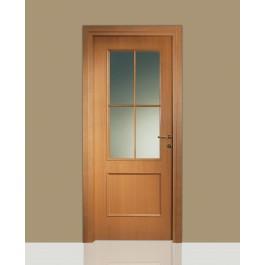 Porte interne in legno Leon 674 vetro e inglesina