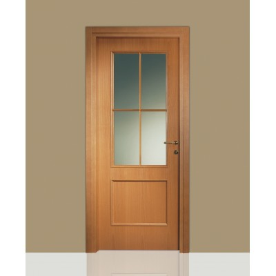 Porte interne in legno Leon 674 vetro e inglesina - Civico14 - Porte ...