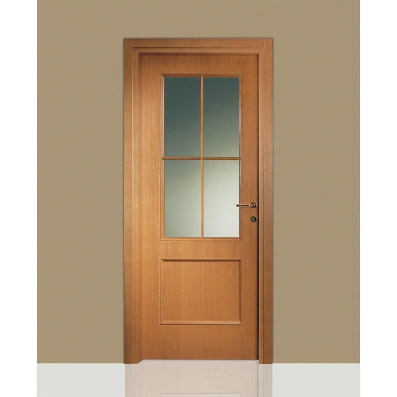 Porte interne in legno Leon 674 vetro e inglesina - Civico14 ...