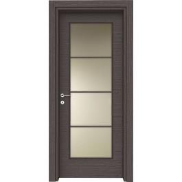 Porte interne laminato Devon 264 vetro con traversi