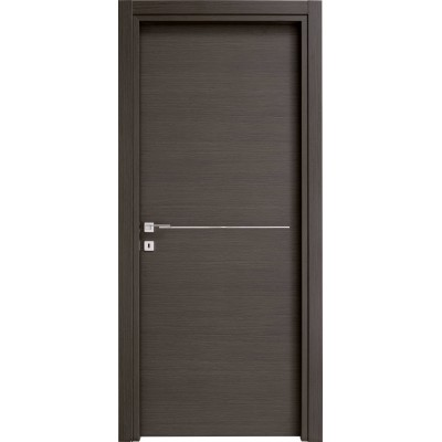Porte interne matrix con inserti in alluminio made in Italy