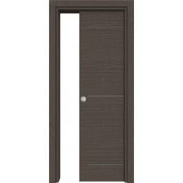 Porte interne laminato Trama Dev414 inserti in alluminio