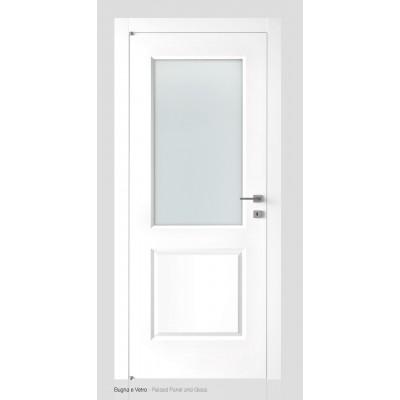 Porte interne laccata liscia battente vetro Brera PV Liberty ...