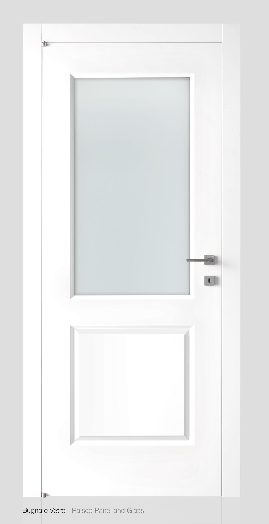 Porta laccata best porta laccata con inserti a filo anta - Porte bianche con vetro ...