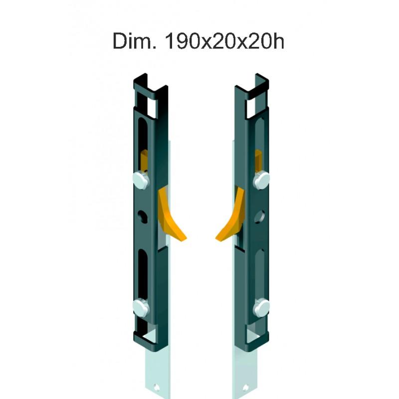 Blocco antiscasso per avvolgibili in acciaio multipoint for Tapparelle per cabina