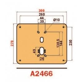 Placca in acciaio antiscasso protezione basculante serie Brown A2466 Mini 300 x 240 liscia