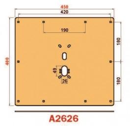 Placca in acciaio antiscasso protezione basculante serie Brown A2626 Maxi 450 x 400