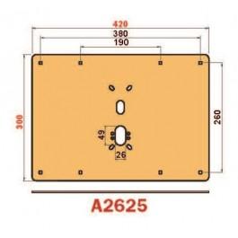 Placca in acciaio antiscasso protezione basculante serie Brown A2625 Midi 420 x 300 liscia