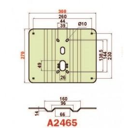 Placca in acciaio antiscasso basculante serie Green A2465 mini 300 x 240 grecata