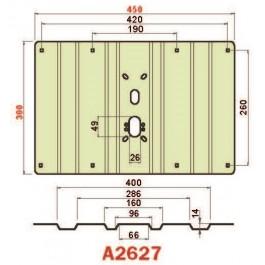 Placca in acciaio antiscasso protezione basculante serie Green A2627 Midi 450 x300 grecata