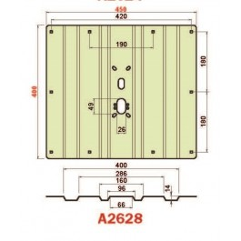 Placca in acciaio antiscasso protezione basculante serie Green A2628 Maxi 450 x 400 grecata