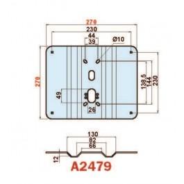 Placca in acciaio antiscasso antiscasso basculante serie Blue A2479 mini 270 x 240 grecata