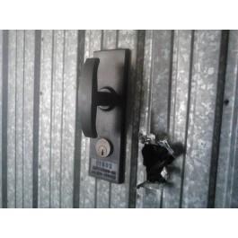 Placca in acciaio antiscasso antiscasso basculante serie Blue A2624 Maxi 450 x 400 grecata