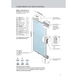 Easy kit Telaio Anta alluminio scorrevole sospesa AT001