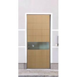 Porta Blindata serie Metal  pannelli con inserti in acciaio