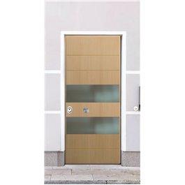Porta Blindata serie Metal  pannelli con doppi inserti in acciaio