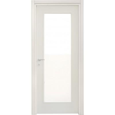 Porte interne leon 660 liscia con vetro laccata bianca civico14 porte interne e sicurezza casa - Porte interne con vetro ...