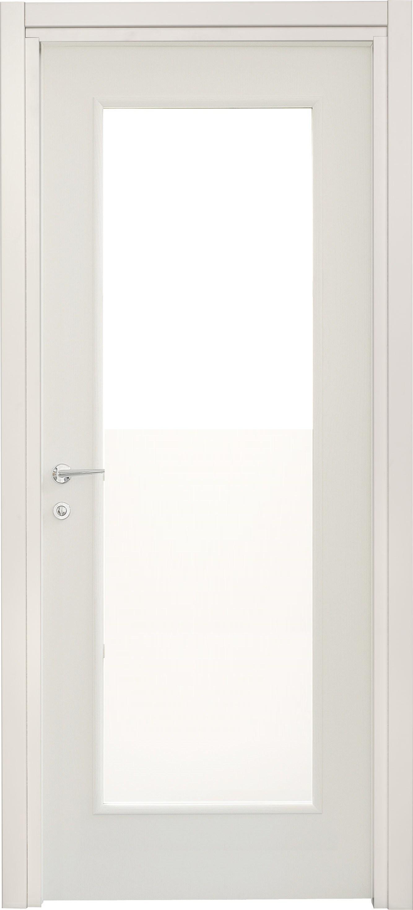 Porte interne Leon 660 liscia con vetro laccata bianca ...