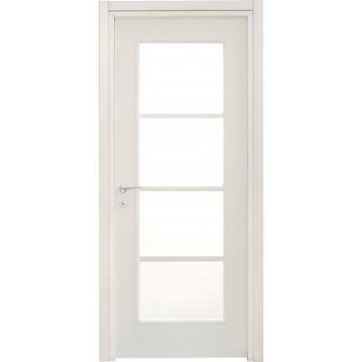Porte interne leon 664 liscia con vetro laccata bianca - Porte bianche con vetro ...