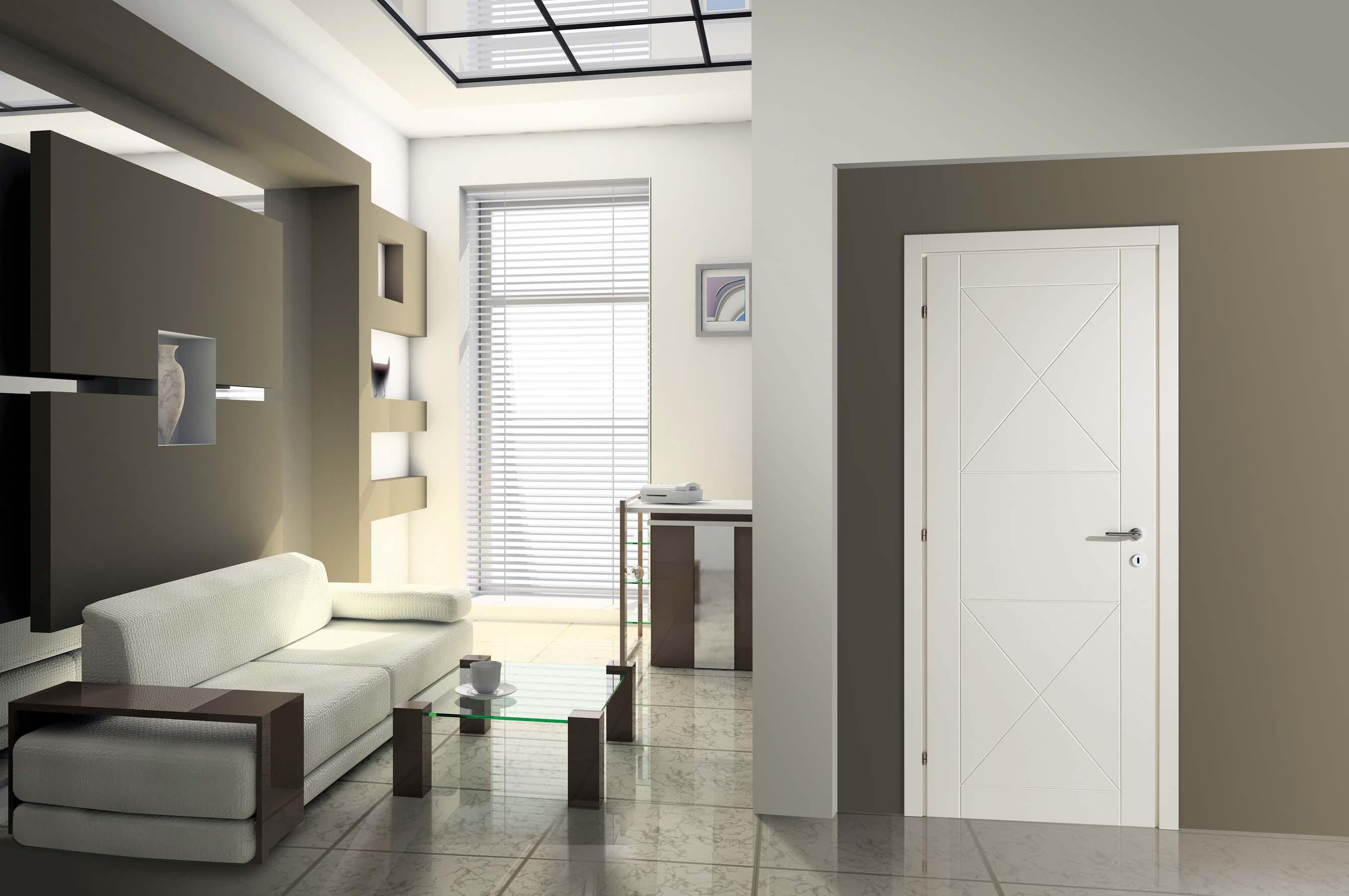 Giropanca moderno bianco for Porte in legno grezzo