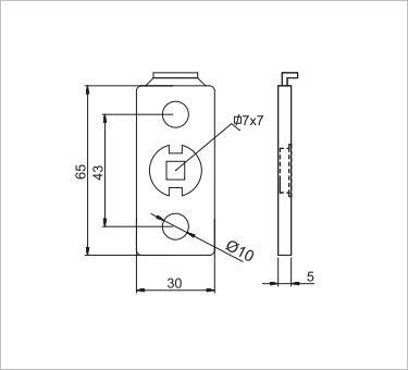 Dettaglio Winblock rettangolare standard