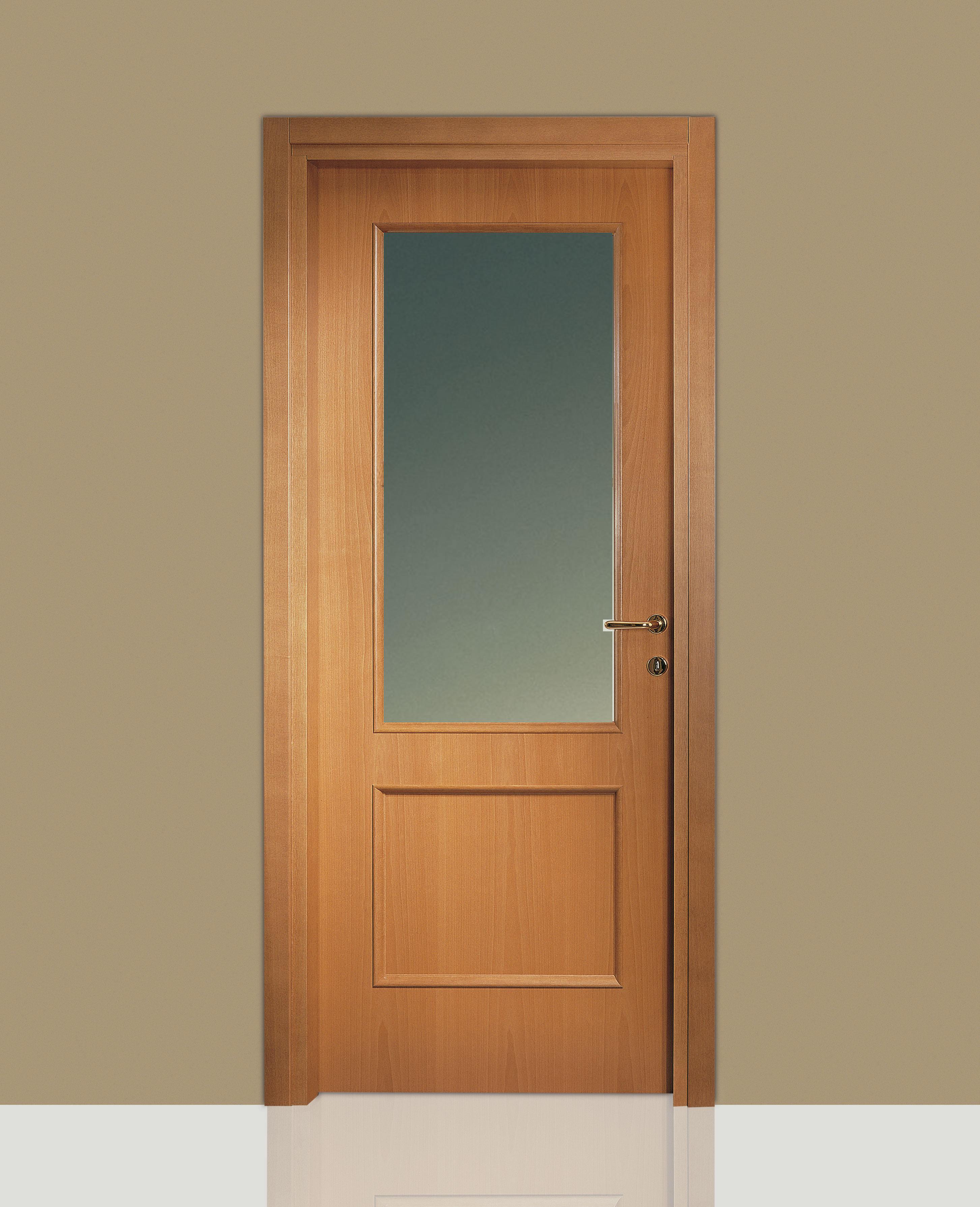 Porte Con Vetro Satinato porte interne in legno leon 670 vetro e specchiatura