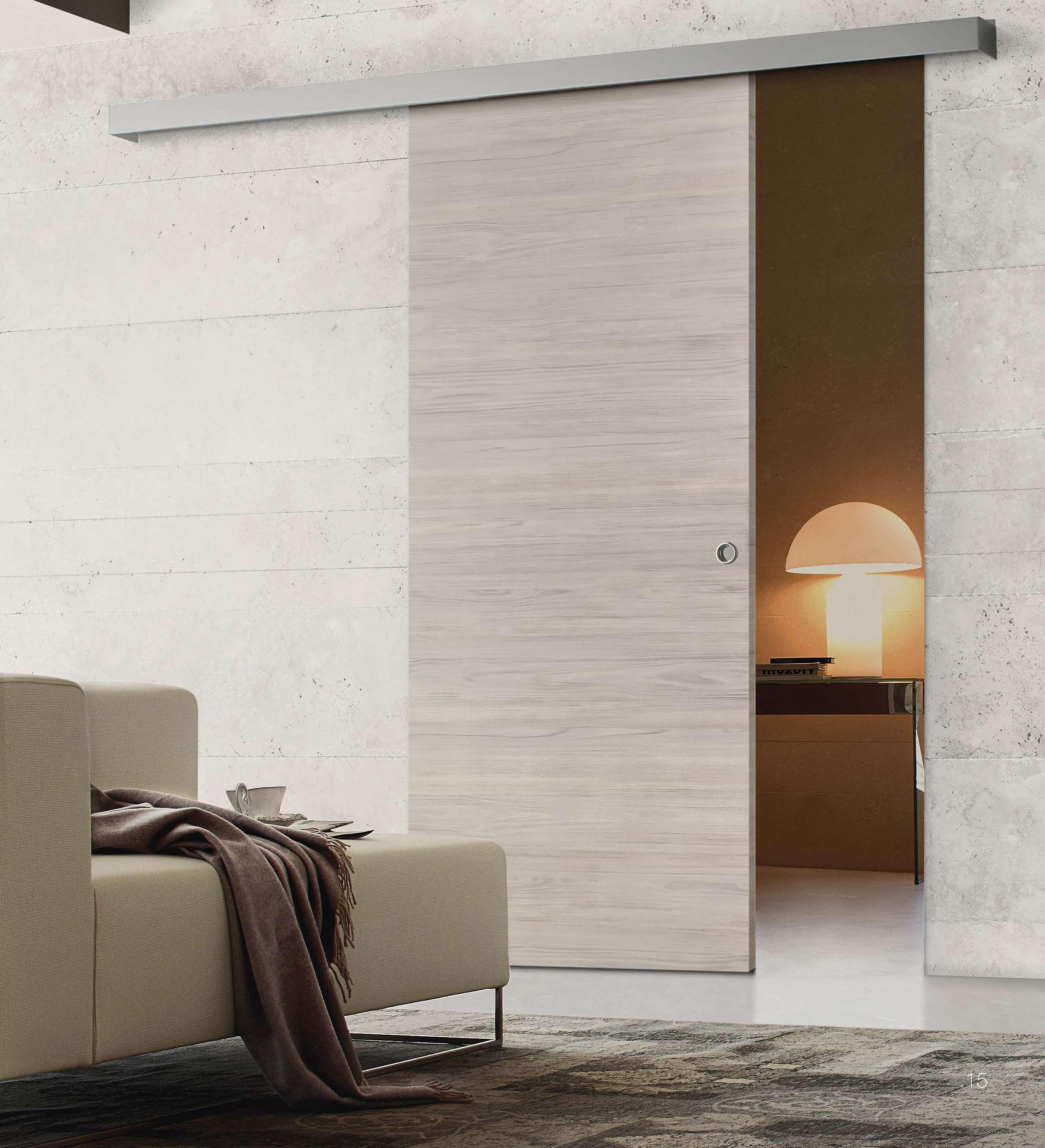 Porte Rovere Sbiancato Spazzolato porte scorrevoli esterno muro in laminato design e gusto