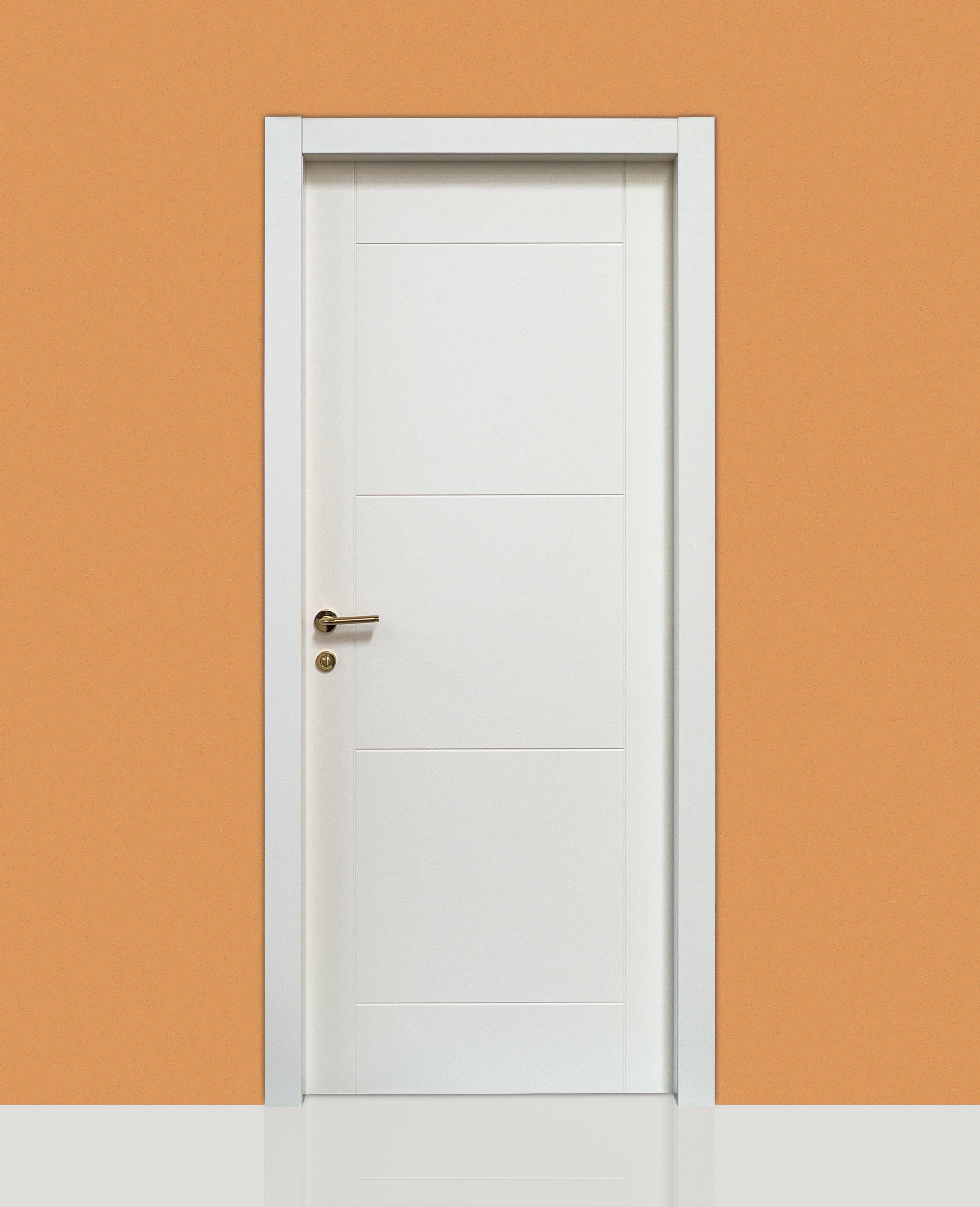 Colori Porte Interne Moderne porte interne lexa 214 laccate incisa - civico14 - porte